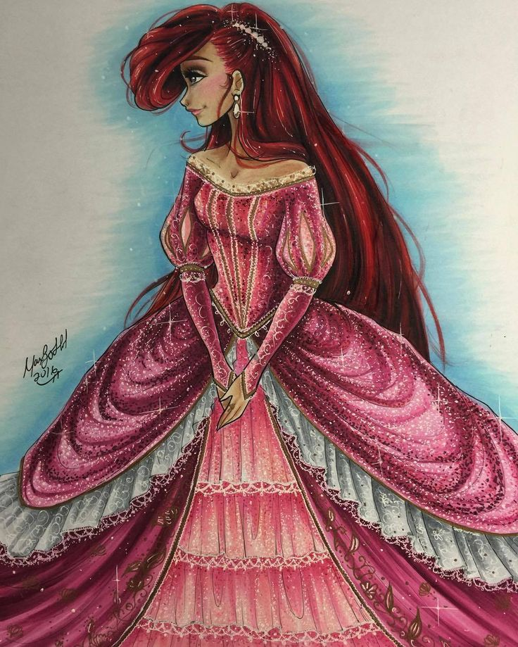 Ariel - Disney Princess Drawings by Max Stephen