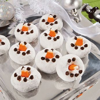 Snowman mini Donuts - we did this for the 5th grade christmas