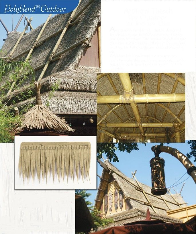 Uv Proof Outdoor Artificial Thatch Shingle 19 Quot X11 Quot Tiki