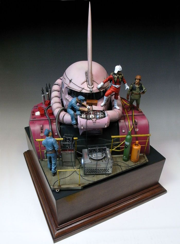 Amazing 1/35 Gunpla Diorama: [Zaku Head] Full Photoreview ...