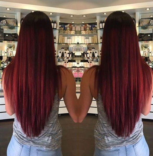 V Schnitt für Lange Haare | Haarschnitt lang, V schnitt ...