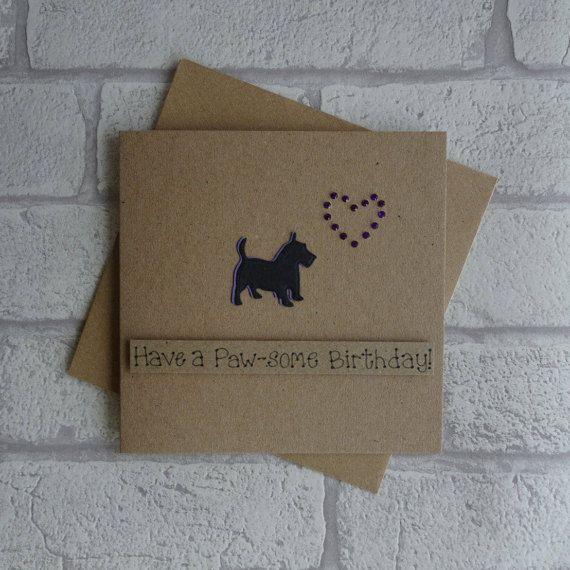 Terrier birthday card Scottie Dog birthday card West