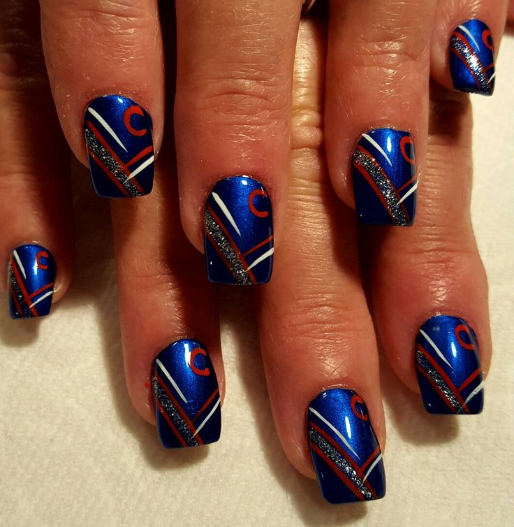 36 best Baseball Nail Art images on Pinterest | Baseball nail art ...