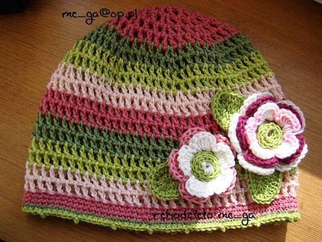 WEŁNIANA KRAINA: szydełkowe czapki dla dziewczynek--różne