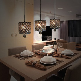 : Dining Rooms, Hanging Lights, Decor Ideas, Lights Fixtures, Drop Pendants, Cylinder Style, Pendants Lights, Hanging Lamps, Crystals Drop
