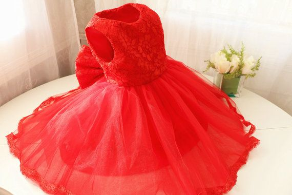 Hot Red Thanksgiving Dress Toddler Baby Christmas Dress