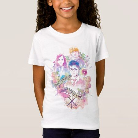 Harry Potter | Harry, Hermione, & Ron Watercolor T-Shirt - click to get yours right now!