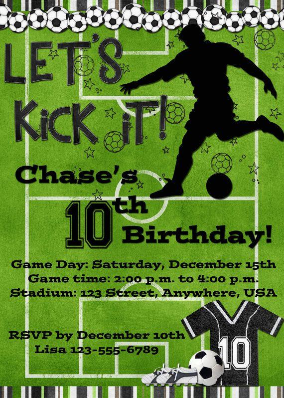 Soccer Birthday Party Invitation Black by DecidedlyDigital, $15.00