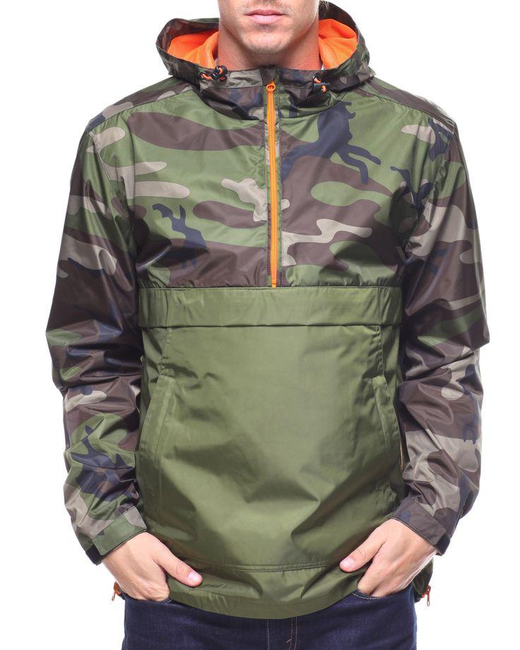 CAMO COLOR BLOCK ANORAK Men's Outerwear from Jordan Craig. Find Jordan Craig fashion & more at DrJays.com