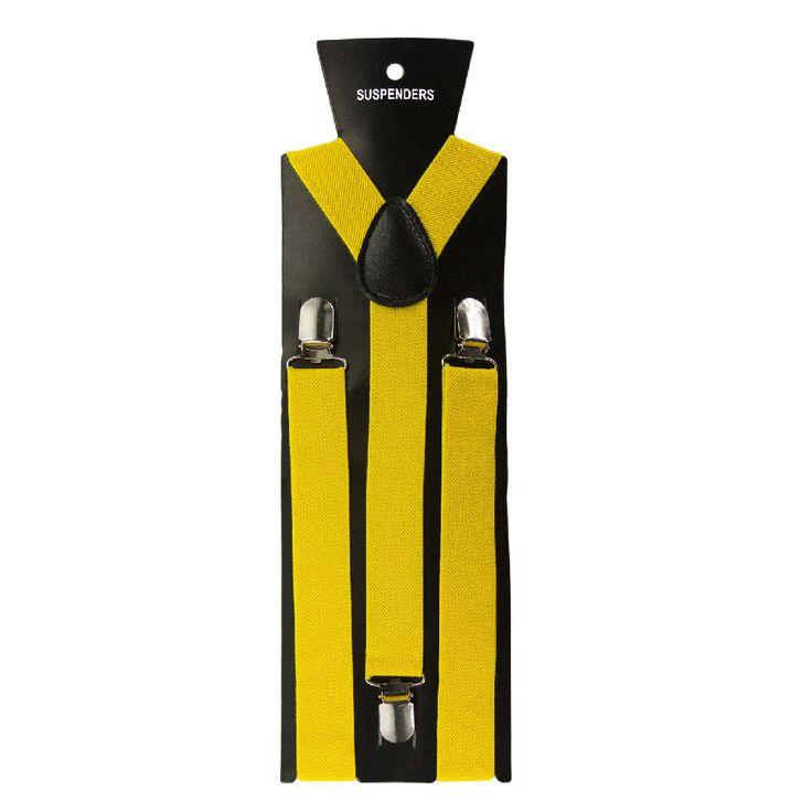 Hosenträger Unisex verstellbar Y -Form - gelb in Bekleidung Accessoire  • Hosenträger