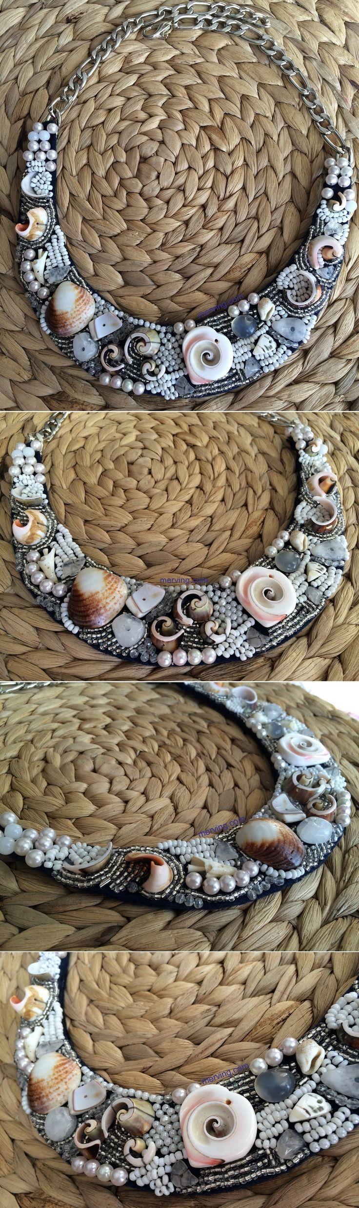Merving Shop açılıyor... www.merving.com #necklace #kolye #taslikolye #bignecklace #shop #sale #mervingdesign #mervingcom #mervingshop #like #handmade #diynecklace #blog #blogger #elyapimi #handmade #fashion #fashionnecklace #fashion #whitenecklace #sea