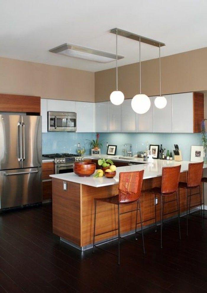261 best petites et grandes cuisines images on Pinterest Kitchen - agencement de cuisine ouverte