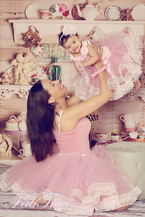 Mommy and Me matching tutus - a beautiful prop for mommy and me pictures - mauve and light pink, other colors available on Etsy, $60.00