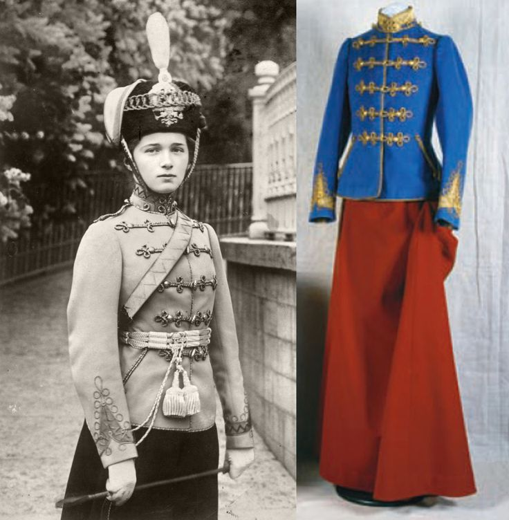 "Grand Duchess Olga Nikolaevna Romanova of Russia and her regimental uniform of the 3rd Elizavetgradsky Hussars Regiment. ""AL"""