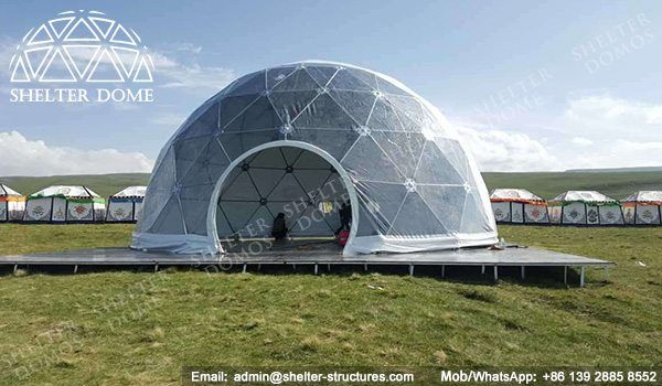 10m Eco living dome tents for sale - Geo dome tents for sale - Dome restaurant - Prefab dome homes for sale - Eco dome homs for sale - Shelter Dome (3)
