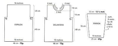 tejidos al crochet paso a paso con diagramas: Pull o sueter tejido en crochet en rojo y gris (talle 2) (diagramas)