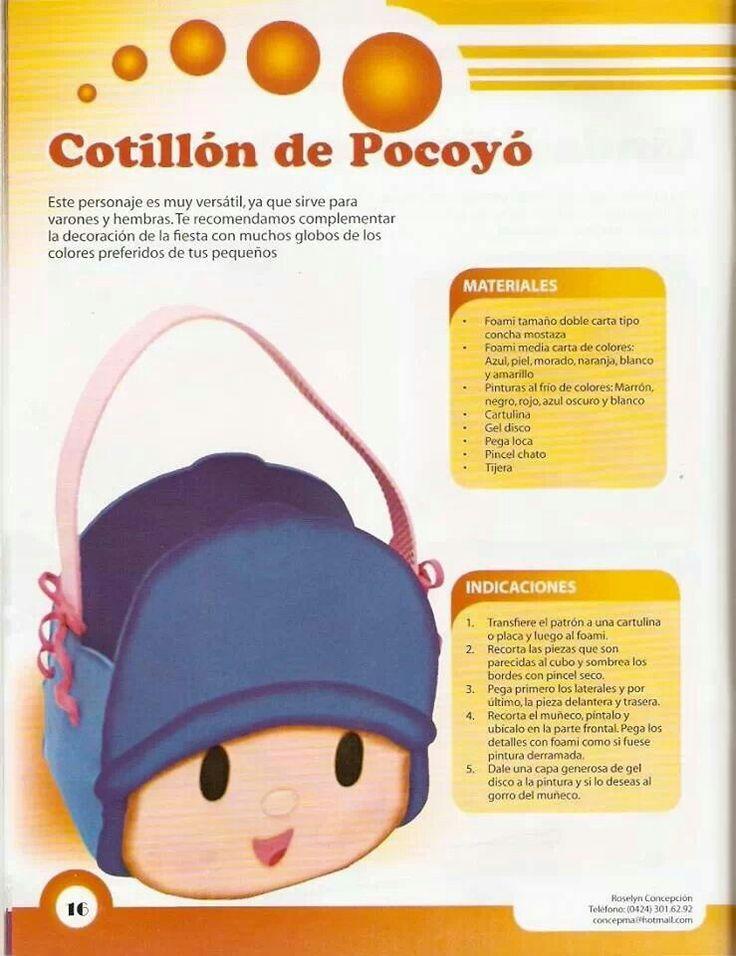 cotillon pocoyo candy bagsideas partiesgoma eva