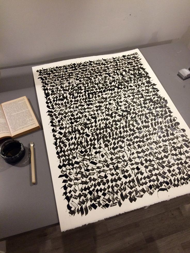 Christophe Badani. Abstract asemic Calligraphy.