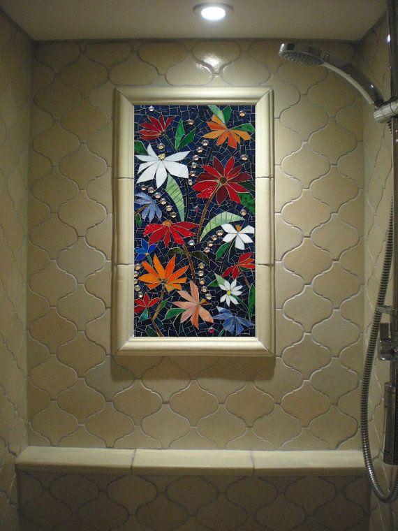 MOSAIC WALL PANEL Stained Glass Wall Art Decor By ParadiseMosaics Part 67