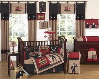 Pirate Treasure Cove 9-Piece Baby Boy Bedding Set by JoJo Designs with FREE shipping #nursery #baby #boy TinyTotties.com