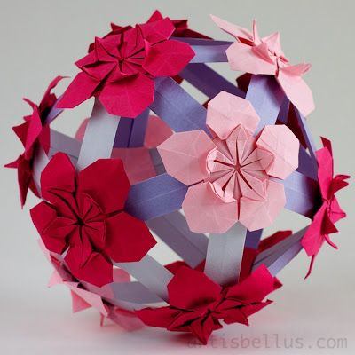 100 best fleurogami origami images on pinterest diy origami pimpernels ball new origami modular mightylinksfo