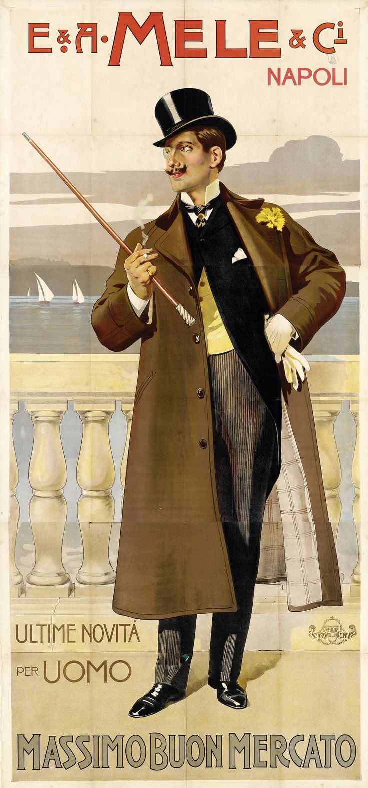 E.& A. Mele, Ultime novità per uomo, Anonimo, 1900 ca.