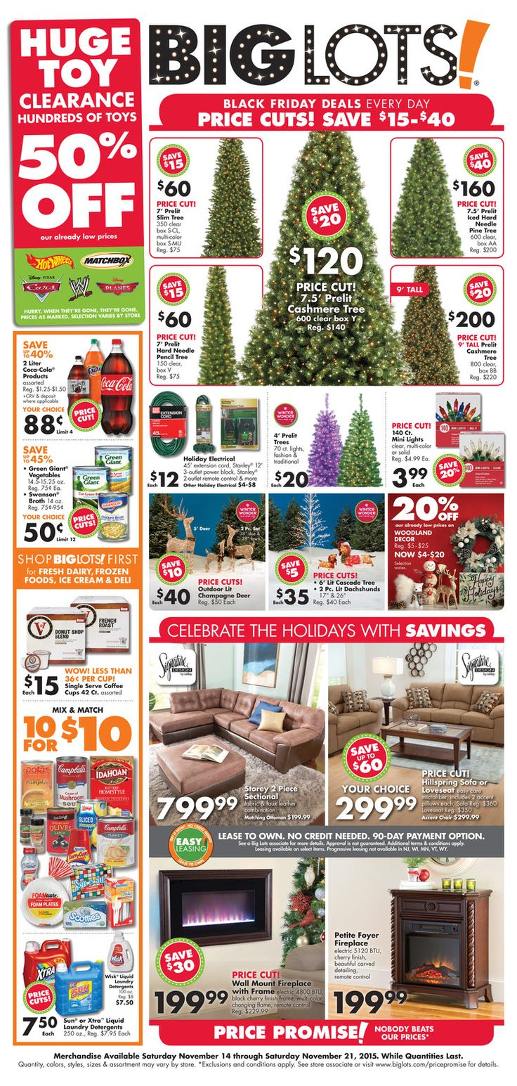 Big Lots Furniture November 8 14, 2015 Weekly Ads and