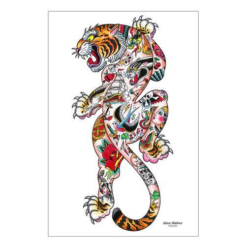 about Tiger Print Tattoos on Pinterest | Print Tattoos Fairies Tattoo ... - Tattoo Maze