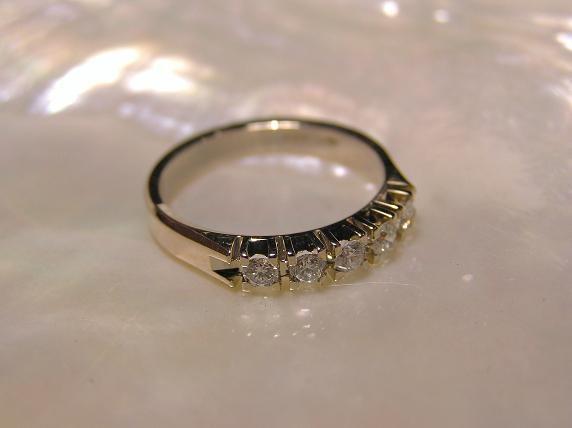 Bague Diamant 5 X 5pts