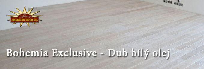 logoRealizace dřevěné podlahy Bohemia Exclusive – Dub drásaný bílý olej. Na povrchovou úpravu drásaného dubu byly použité oleje American Wood Oil  -  NYC Colors a vrchní vrstva Clear Seal na maximální odolnost proti skvrnám a zvýšení odolnosti pro běžný provoz.