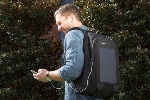 A solar-powered backpack. | 19 Insanely Clever Products That Prove We're Living In The Future