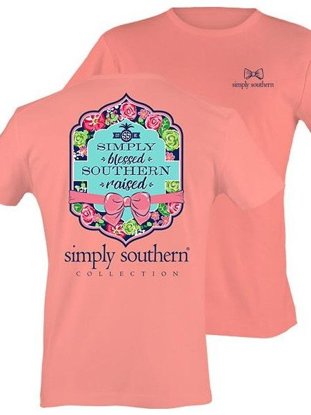 Simply Southern Simply Blessed Southern Raised Tee- Melon from Chocolate Shoe…