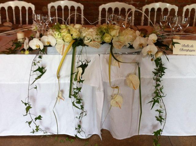 centre table mariés  idees mariage  Pinterest  Centre et Tables