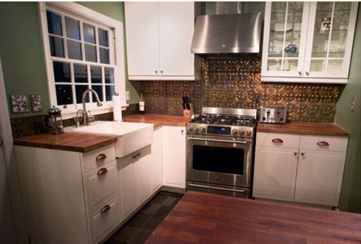 White Kitchens With Tin Back Splash | Tin Backsplash Tiles