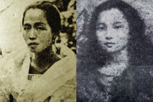 Felicidad Aguinaldo and Dolores Nable Jose, girlfriends of Gregorio Del Pilar