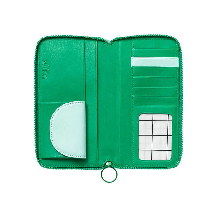 Zip-Around Wallet - Kate Spade Saturday Want to DIY this wallet!  Super cute very useful.