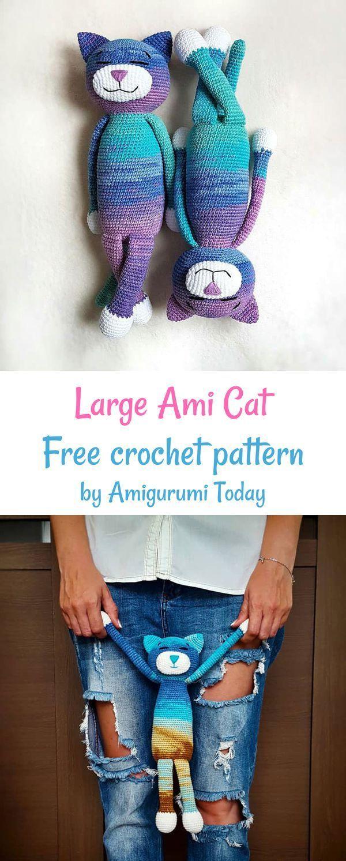 Large Ami Cat Crochet Pattern Crochet Patterns Free Crochet