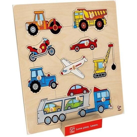 AUNTIE TANIA AND UNCLE TOMMY GETTING THIS! Hape Vehicles Knob Puzzle