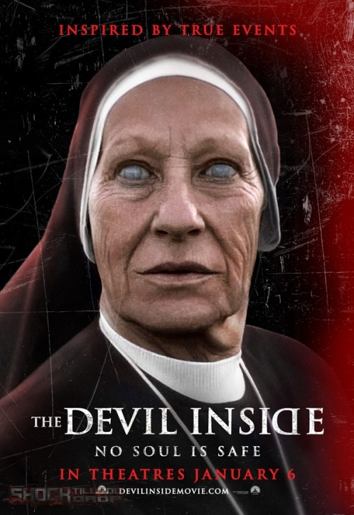 """""""The Devil Inside"""" - In Italy, a woman becomes involved in a series of unauthorized exorcisms during her mission to discover what happened to her mother, who allegedly murdered three people during her own exorcism."""