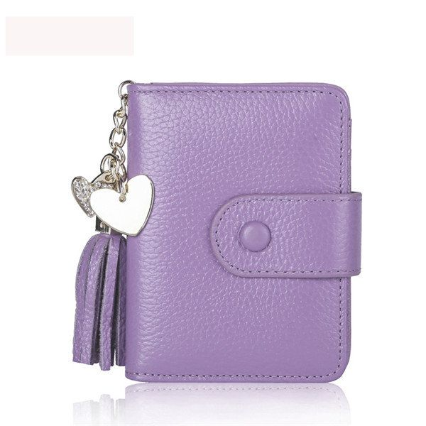 23 Card Slots Genuine Leather Hasp Card Holder Tassel Document ID Card Bags Purse For Women