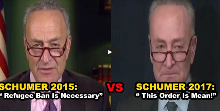 WOW: Watch Charles Schumer FLIP FLOP on refugees in just two years
