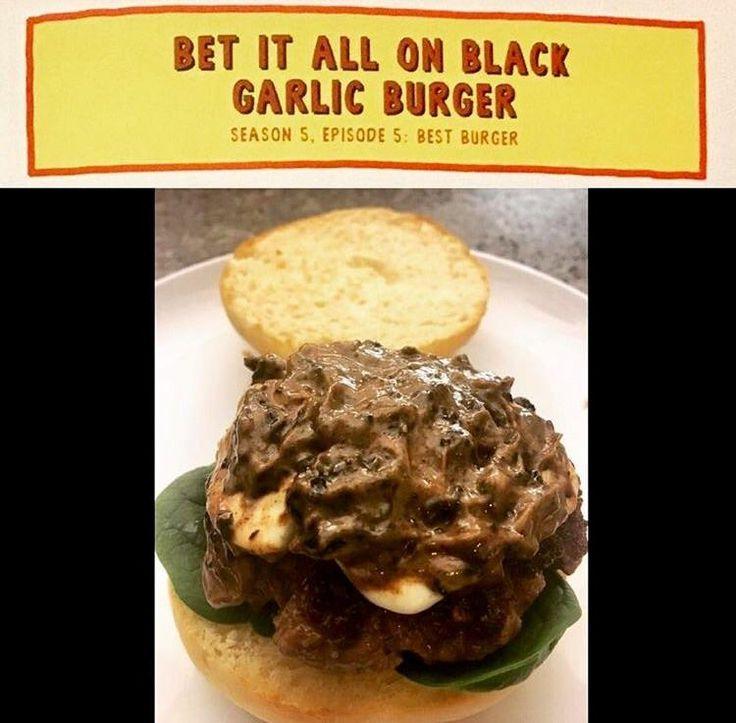 [Homemade] Bet It All On Black Garlic Burger (x-post from r/bobsburgers) http://ift.tt/2nkxEBZ