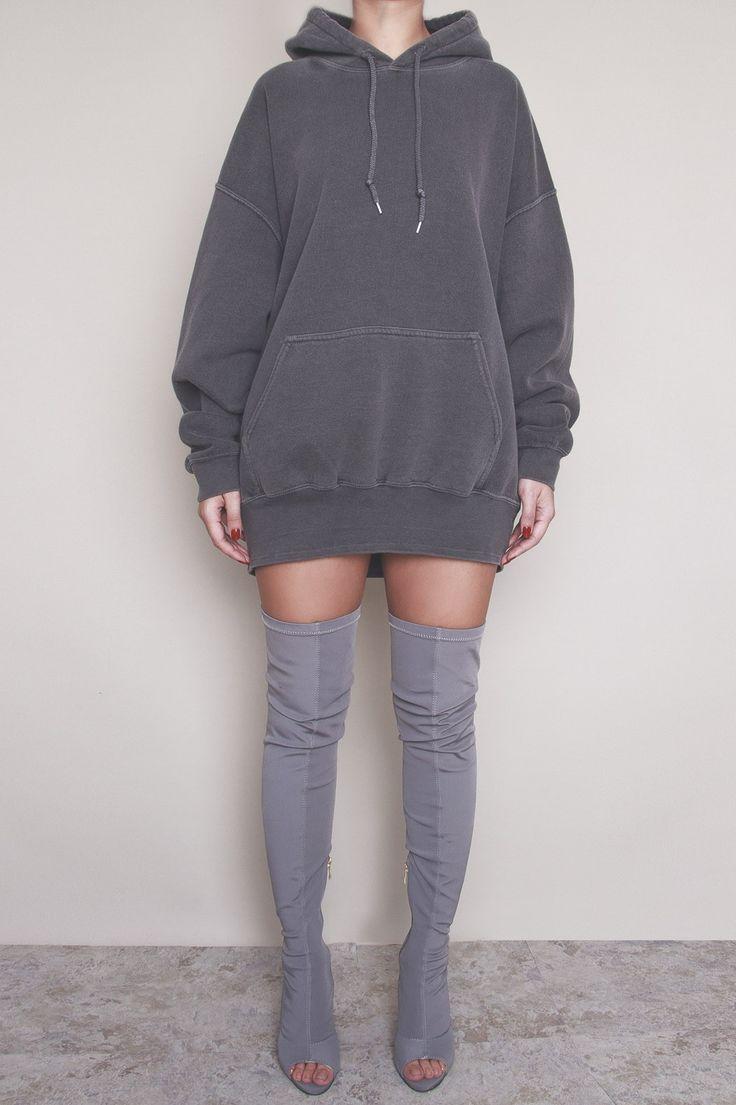 Baziic Charcoal Unisex Oversized Hoody HOT!MESS Fashion UK