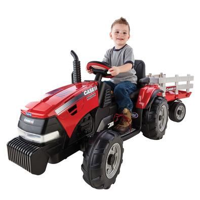 Case IH Battery Operated Ride On Tractor & Wagon | Riding Toys & Wagons | ShopCaseIH.com Give your little farmer an early start to driving a Case IH tractor all their own size. They can tackle multiple terrain including grass, dirt, gravel, or pavement with the farm tractor wheels. The SmartPedal accelerator can stop, coast and go in 2-speeds, 2�_ mph and 4½ mph. Parents, you can control the speed with the 2nd gear lockout. Outdoor play time will never be the same.