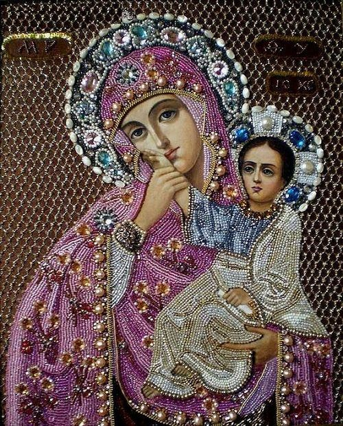Maria Yantovskaya icons embroidered with beads - Viola.bz