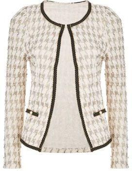 Tenki Cream #Houndstooth #Jacket