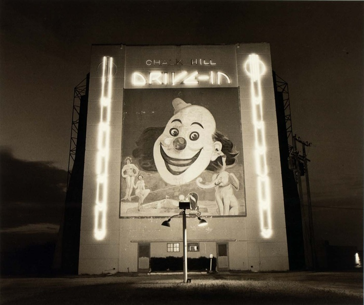 Drive-In Theater, Dallas, Texas, 1973, by Steve Fitch.  Fitch drove all over America photographing drive-ins before the were torn down.