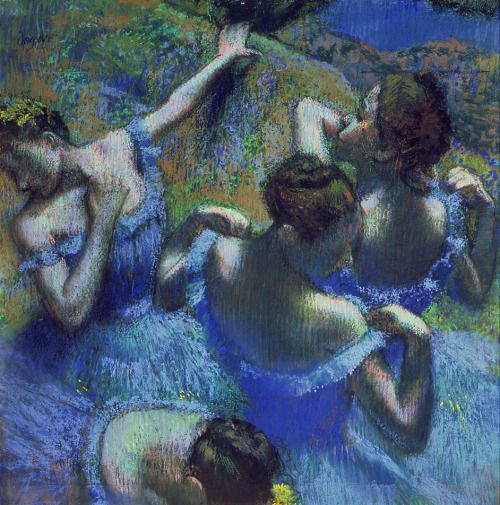 Edgar Degas, Dancers in Blue, 1895 and Blue Dancers, 1899