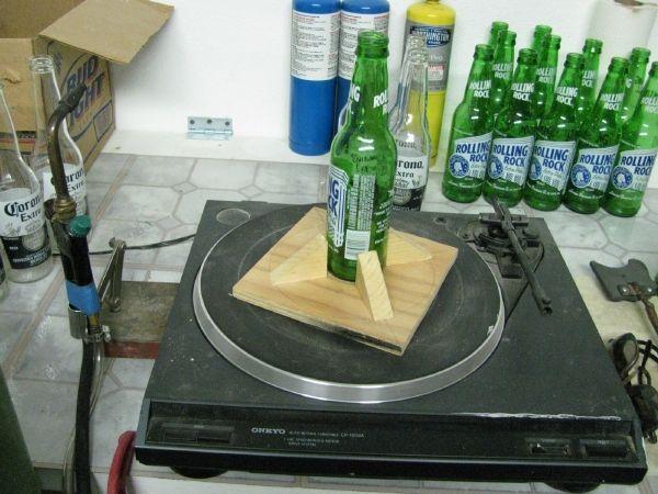 cutting beer bottles