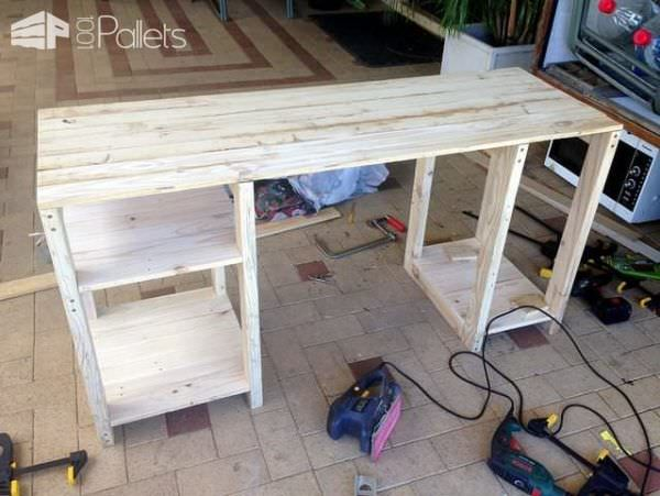 Pallet Wood Computer Desk Part 70